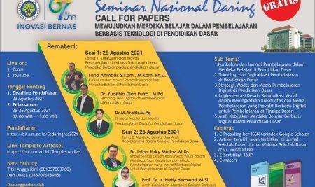 SEMINAR NASIONAL DARING JURUSAN KSDP 25-26 Agustus 2021
